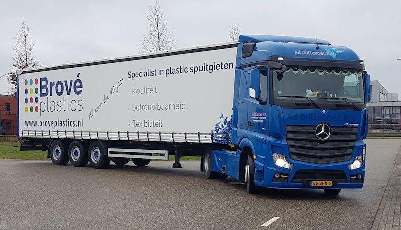 Dollevoet Transport - Mercedes Actros met trailer