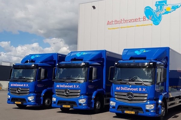 Mercedes Benz Antos wagenpark Dollevoet BV vacature
