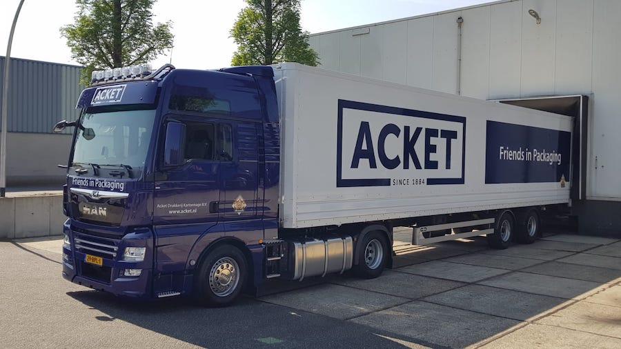 Ad Dollevoet BV - Voor Acket nieuwe transportwagen MAN aangekocht - 2020