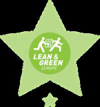 Logistics logo 1 star lean&green